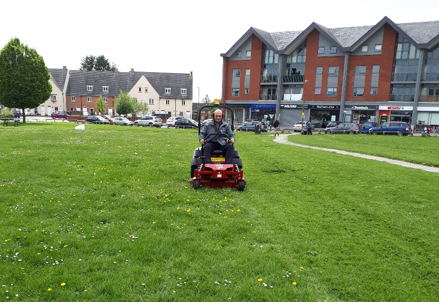The new grounds maintenance contract springs into action!